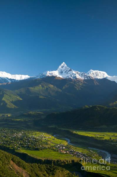 Montain Photograph - Annapurna Peak - Nepal by Ricardo Lisboa