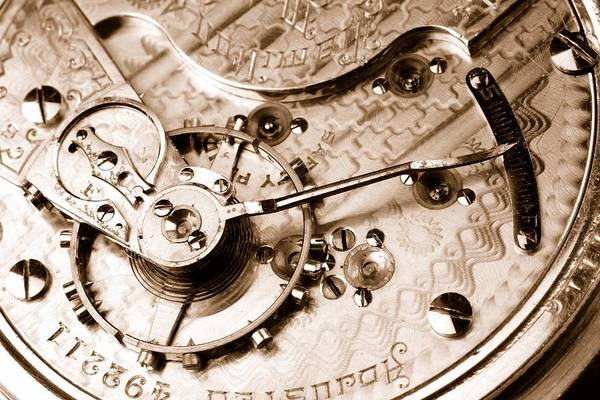 Photograph - Antique Pocketwatch  by Jim Hughes