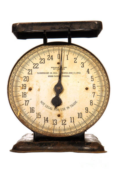 Weights Photograph - Antique Scale by Olivier Le Queinec
