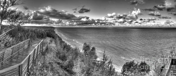 Northern Michigan Photograph - Arcadia Overlook In Black And White by Twenty Two North Photography