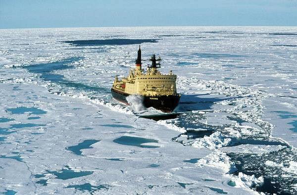 Wall Art - Photograph - Arctic Icebreaker by Patrick Landmann/science Photo Library