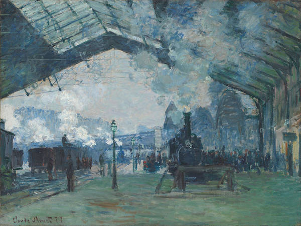 Lazare Painting - Arrival Of The Normandy Train by Claude Monet