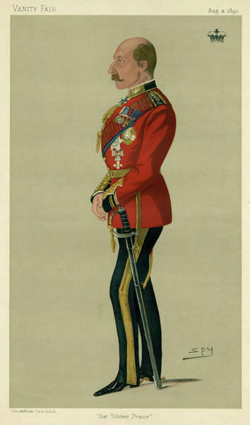 Gold Medal Drawing - Arthur Duke Of Connaught  3rd Son by Mary Evans Picture Library