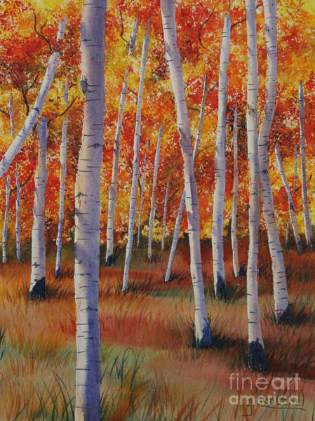 Painting - Aspen Forest by Glenyse Henschel