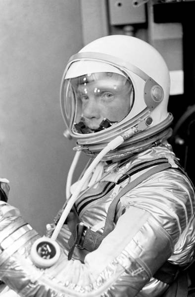 Professions Photograph - Astronaut John Glenn - Mercury Atlas 6 by War Is Hell Store