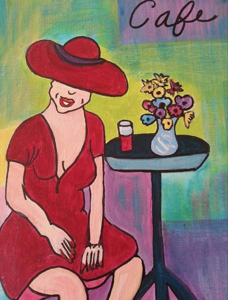 Painting - At The Cafe by Nikki Dalton
