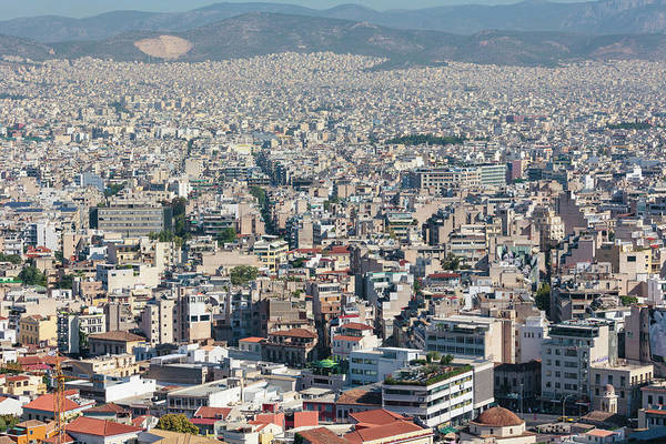Grecian Photograph - Athens, Attica, Greece. View by Panoramic Images