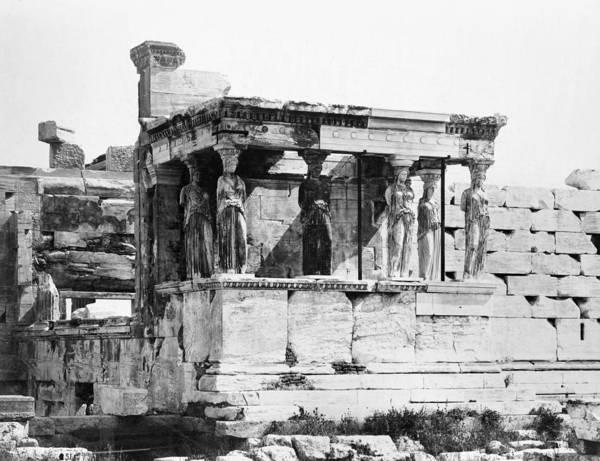 Erechtheion Photograph - Athens Erechtheion by Granger