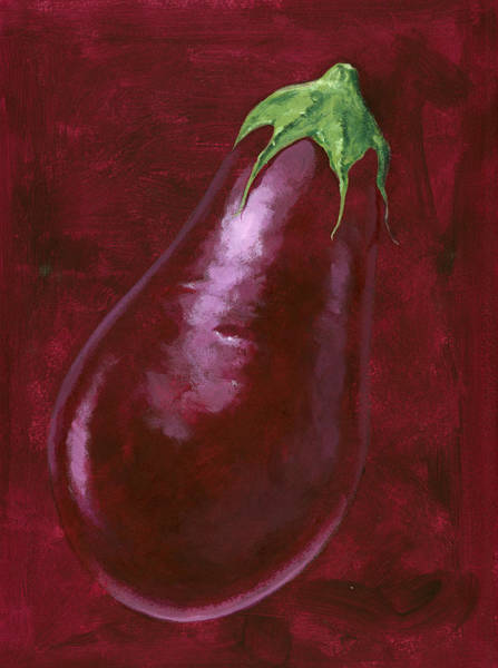 Wall Art - Painting - Aubergine by MGL Meiklejohn Graphics Licensing