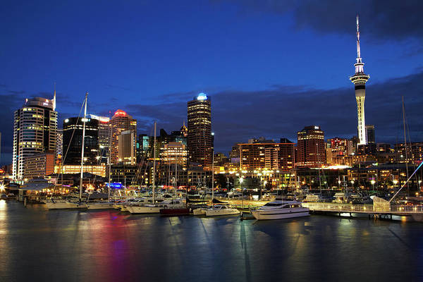 Central Business District Wall Art - Photograph - Auckland, North Island, New Zealand by David Wall