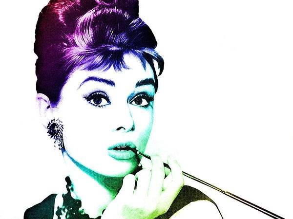 Digital Art - Audrey Hepburn by Marianna Mills