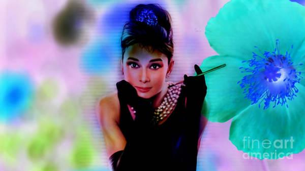 Wall Art - Mixed Media - Audrey Hepburn  by Marvin Blaine