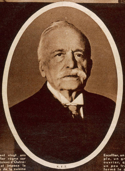 Wall Art - Photograph - Auguste Escoffier  French Chef by Mary Evans Picture Library