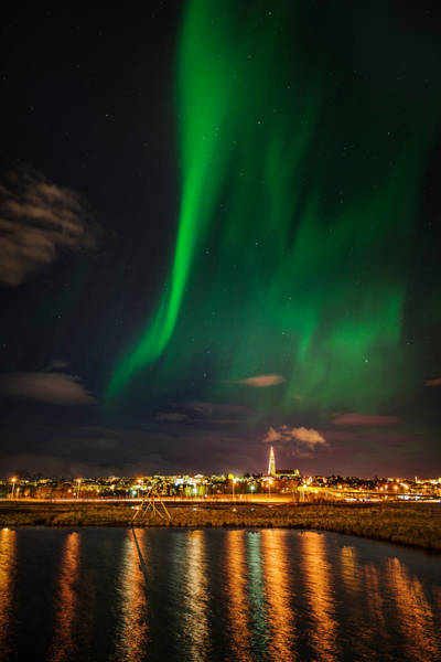 Awe Photograph - Aurora Borealis Or Northern Lights by Panoramic Images