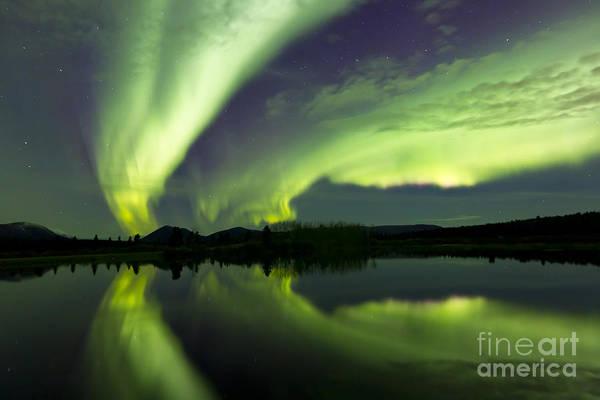 Photograph - Aurora Borealis Over Fish Lake by Joseph Bradley