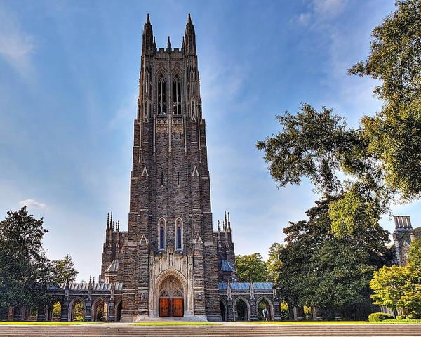 Methodist Photograph - Autumn At Duke Chapel by Emily Kay