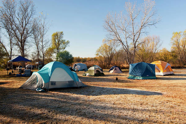 Camping Wall Art - Photograph - Autumn Camping At Copper Breaks State by Larry Ditto