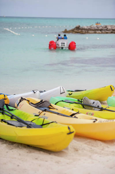 Kayaks Wall Art - Photograph - Bahamas, Eleuthera, Princess Cays by Jim Engelbrecht