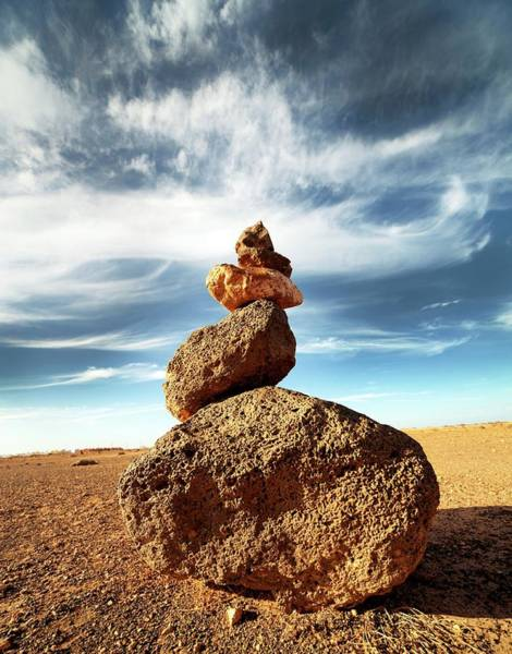 Wall Art - Photograph - Balancing Stones by Wladimir Bulgar/science Photo Library