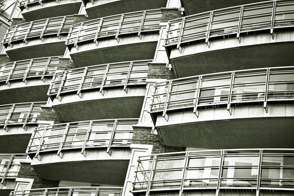 Apartments Photograph - Balconies by Tom Gowanlock
