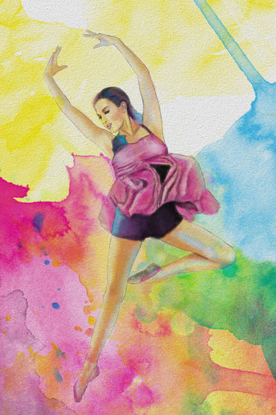 Corporate Art Task Force Painting - Ballet Dancer by Corporate Art Task Force