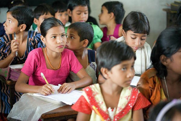 World Class Photograph - Bangladeshi Village School by Adam Hart-davis/science Photo Library