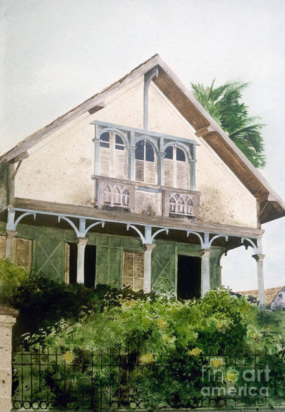 Painting - Barbados Balcony by Monte Toon