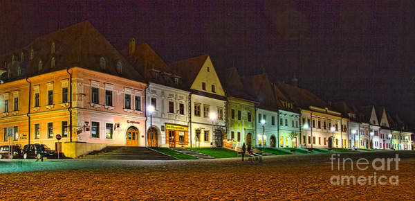 Photograph - Bardejov At Night by Les Palenik
