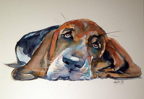 Hound Painting - Basset Hound by Kovacs Anna Brigitta