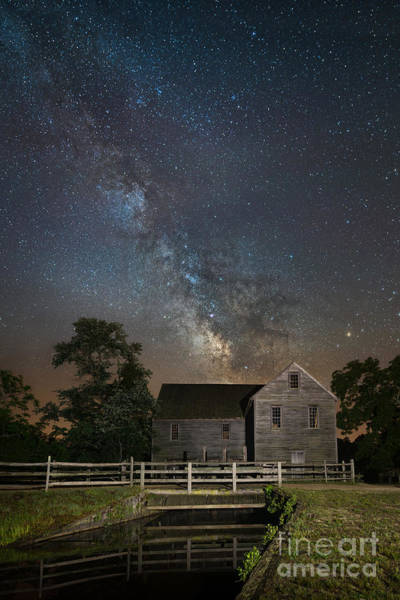 Mv Photograph - Batsto Village Saw Mill Milky Way by Michael Ver Sprill