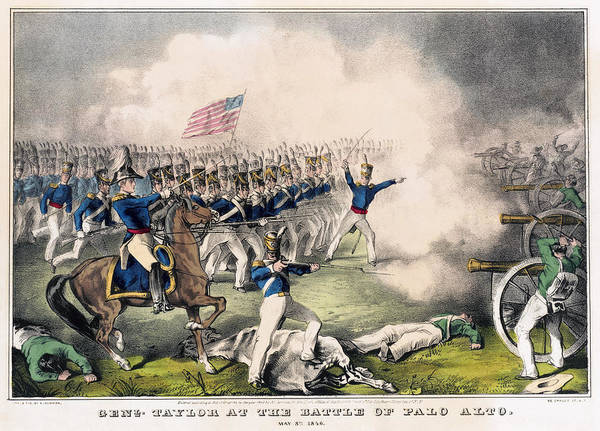 Wall Art - Painting - Battle Of Palo Alto, 1846 by Granger