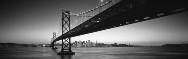Suspended Photograph - Bay Bridge San Francisco Ca Usa by Panoramic Images