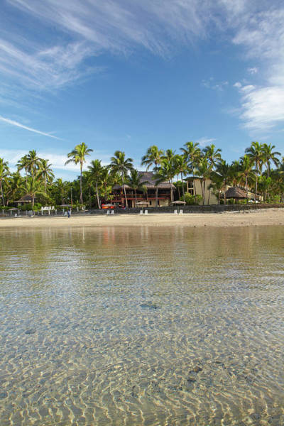 Foreshore Photograph - Beach At Outrigger On The Lagoon by David Wall