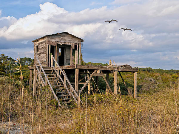 Photograph - Beach Changing Shack by Mike Covington