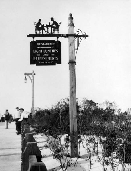 Appearance Photograph - Beach Signs In New York by Underwood Archives