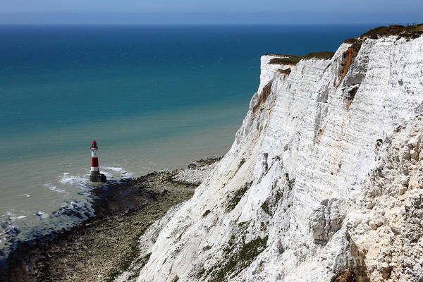 Photograph - Beachy Head Cliffs And Lighthouse  by James Brunker
