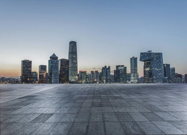 Beijing City Square Art Print by DuKai photographer