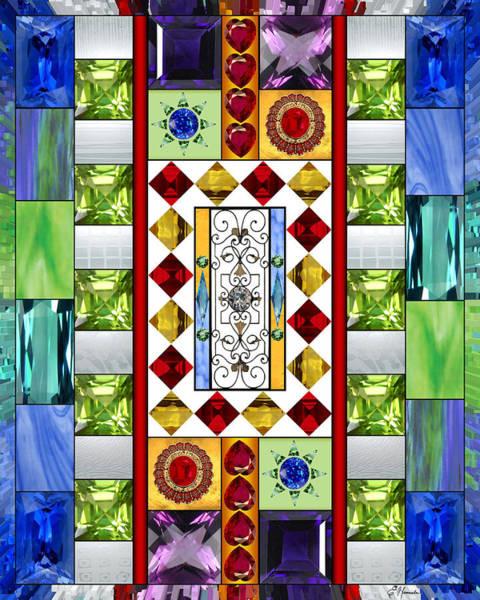Wall Art - Mixed Media - Bejeweled 1 by Ellen Henneke