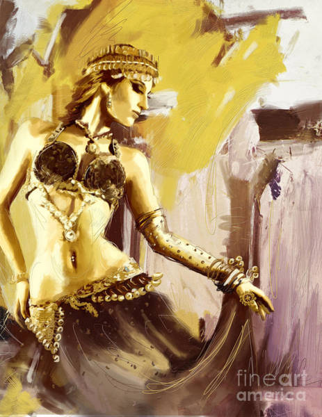 Belly Dance Painting - Abstract Belly Dancer 18 by Corporate Art Task Force