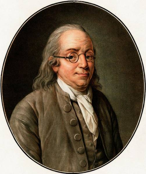 Benjamin Franklin Art Print by American Philosophical Society