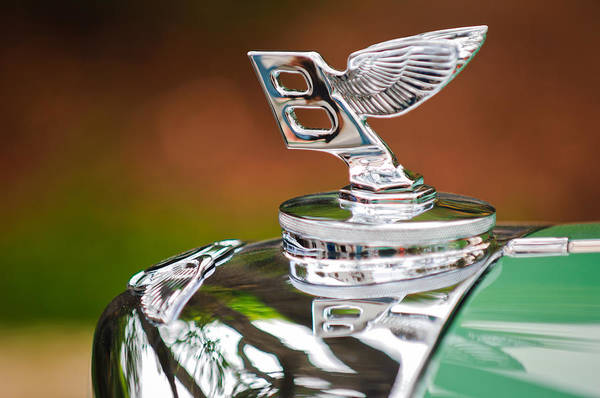 Wall Art - Photograph - Bentley Hood Ornament by Jill Reger