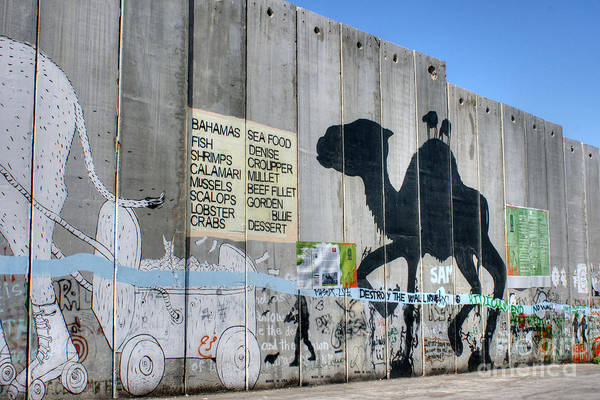 Photograph - Bethlehem Separation Wall 2 by David Birchall