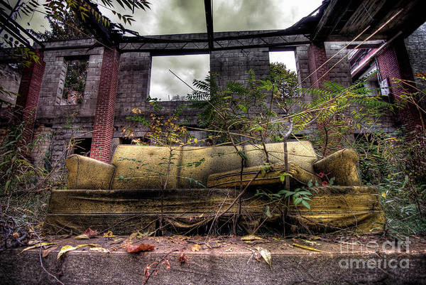 Abandonment Photograph - Big Comfy Couch by Amy Cicconi