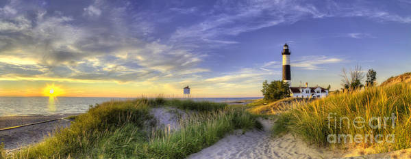 Up North Wall Art - Photograph - Big Sable Sunset by Twenty Two North Photography