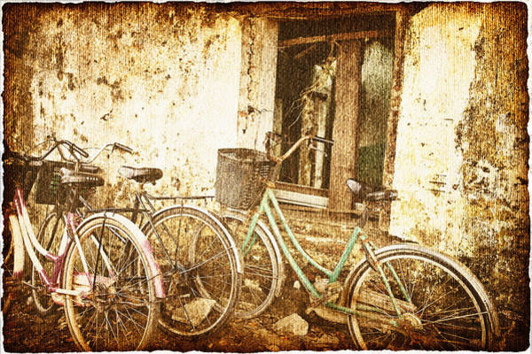 Wall Art - Photograph - Bikes And A Window by Skip Nall