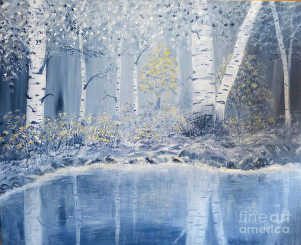 Birch Reflections Art Print
