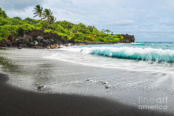 Wall Art - Photograph - Black Sand Paradise by Jamie Pham