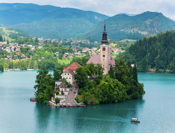 Outing Photograph - Bled, Upper Carniola, Slovenia. Church by Panoramic Images