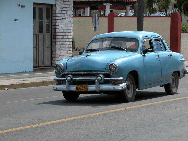 Photograph - Blue Car by Dragan Kudjerski