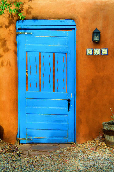 Photograph - Blue Door In Santa Fe by Charlene Mitchell